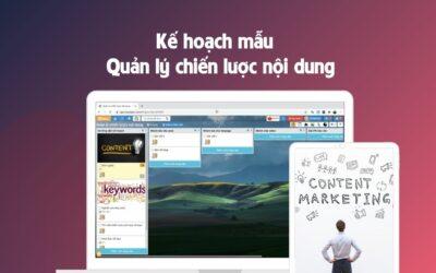 Kế hoạch quản lý sản xuất nội dung marketing